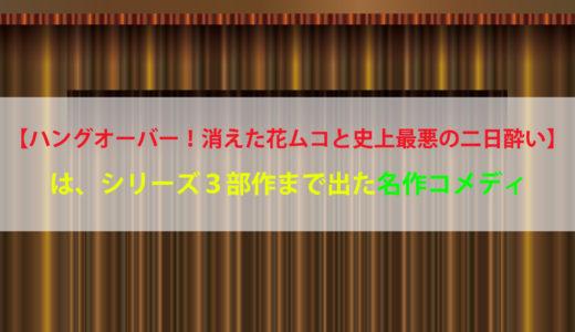 【ハングオーバー!消えた花ムコと史上最悪の二日酔い】 ネタバレ感想/動画を【フル・無料】で視聴出来るサービスは?